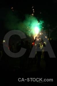 Black fiesta spain javea firework.