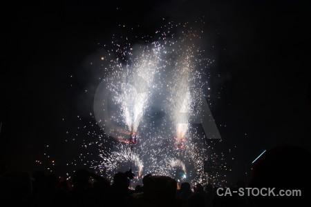 Black firework spark javea europe.