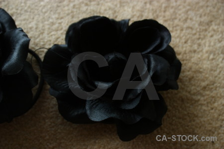 Black flower silk rose plant.