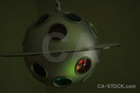Black green object lamp.
