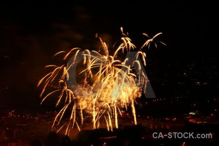 Black javea firework spain orange.