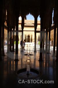 Black la alhambra de granada fortress arch building.