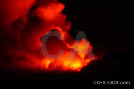Black lava red smoke orange.