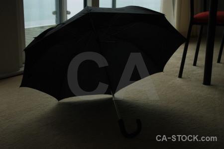 Black object umbrella.