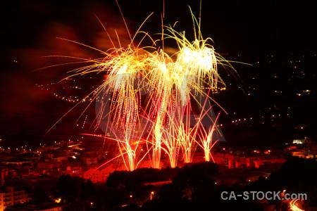 Black red javea firework europe.