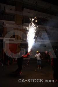Black spain fiesta europe firework.