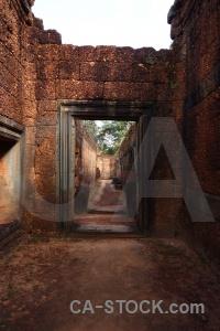 Block corridor stone temple angkor.