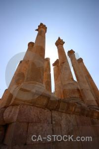 Block pillar column stone archaeological.