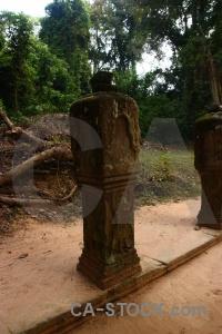 Block ruin column fungus lichen.