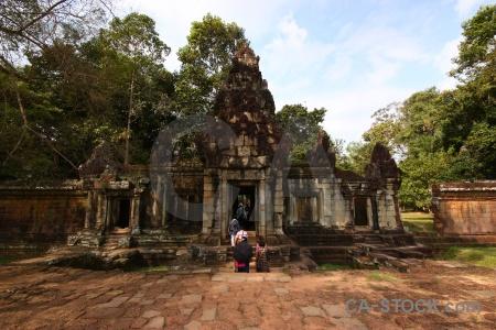 Block southeast asia buddhism grass siem reap.