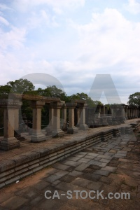 Block stone khmer southeast asia column.