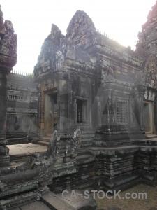 Block temple lichen sky stone.