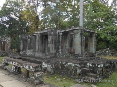 Block temple southeast asia siem reap sky.