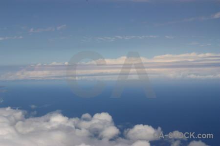 Blue above cloud sky.