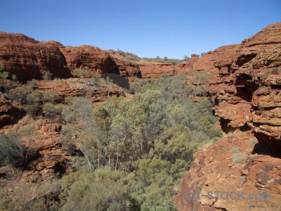 Blue cliff rock desert.