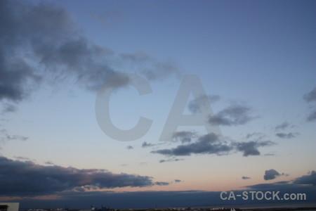 Blue cloud sky.