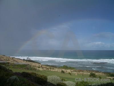 Blue coast green rainbow.
