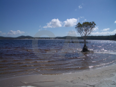 Blue coast landscape.