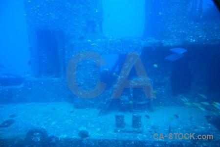 Blue cyan underwater.