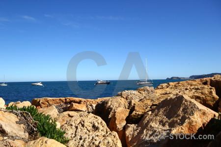 Blue europe spain sky sea.