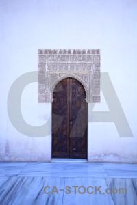 Blue fortress building la alhambra de granada palace.