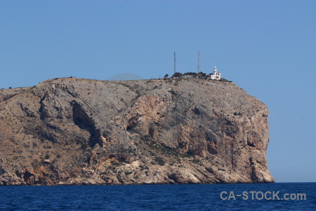 Blue javea punta estrella rock lighthouse.
