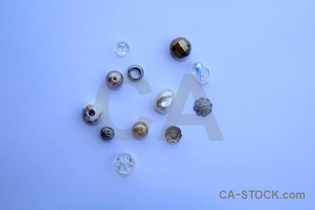 Blue jewellry object.