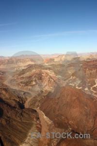 Blue mountain rock brown landscape.