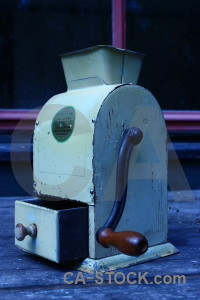 Blue object cyan coffee grinder scientific.