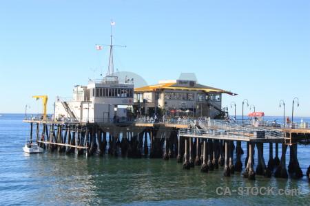 Blue pier.