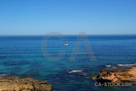 Blue sea sky europe spain.