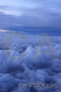 Blue sky cloud above.