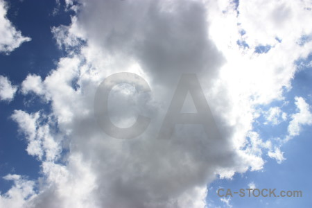 Blue sky cloud white.