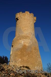 Blue sky javea ruin torre del gerro.