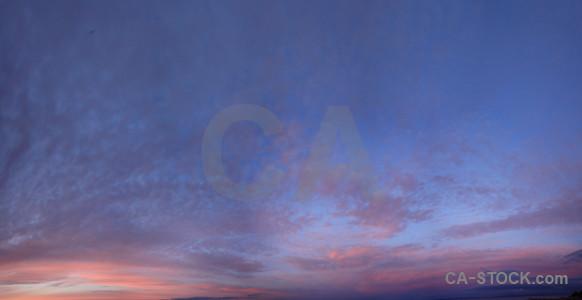 Blue sky purple cloud.