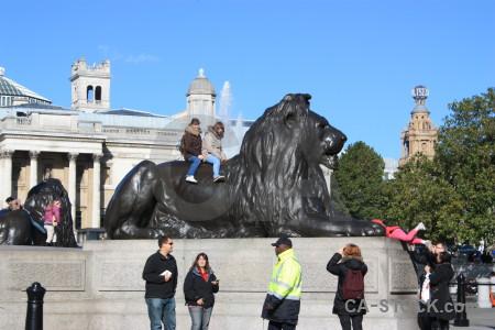 Blue tiger statue animal.