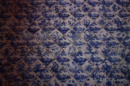 Blue tile texture.