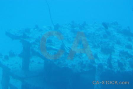 Blue underwater cyan wreck.