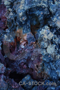 Blue volcanic texture.