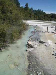 Blue volcanic water lake.