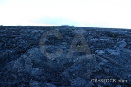 Blue volcanic white lava.