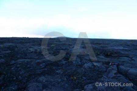 Blue white volcanic lava.