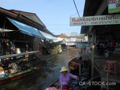 Boat damnoen saduak ton khem thailand water.