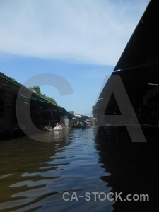 Boat floating building canal southeast asia.