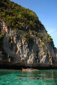 Boat island sea sky thailand.