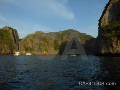 Boat rock phi island sky asia.