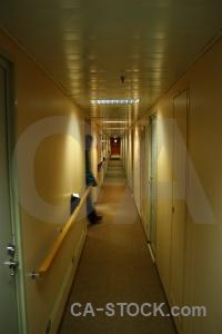 Boat ship antarctica cruise vehicle corridor.