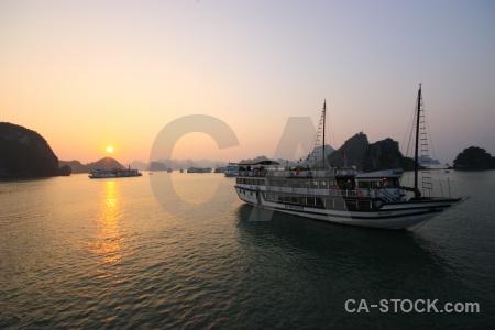 Boat sunrise unesco vehicle sunset.
