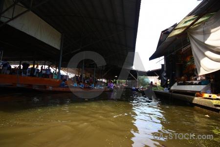 Boat thailand ton khem market floating.