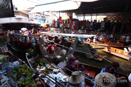 Boat thailand ton khem vehicle damnoen saduak.